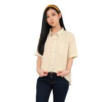 Monellina 50120 Baju Kemeja Atasan XXL Jumbo Lengan Pendek Wanita