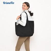 Tote bag Kanvas Besar Polos ( Shopping bag / Tas Belanja ) Premium - Hitam