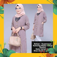 Busana Muslim Tunik Jumbo ABADELINE Baju Fashion Cewek Big size Murah