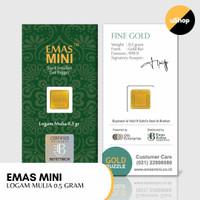 Emas Mini Logam Mulia 0.5 gram