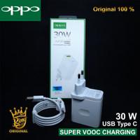 Charger OPPO RENO 2 Original 100% Super VOOC 4.0 30W 5V-6A Type C