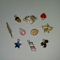 Pendant / Copper Charm Kerajinan DIY Gelang Bandul / Part 3 (10 pcs) - Gambar 5