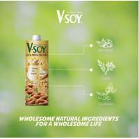 V-Soy Golden Grain - dengan Oat milk - Almond Milk - Vsoy Soy milk