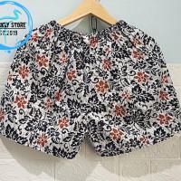 Celana Pendek Wanita - HOTPANTS Kolor Santai - Motif Batik Madura - A