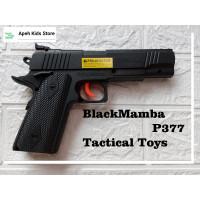 Mainan Tembakan Spring Kokang Blackmamba P377 Black original DCobra
