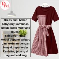 Pakaian Setelan Baju Midi Dress Midi Wanita Cewek Dewasa Remaja Murah