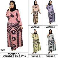 Longdres Batik, Daster Lengan Panjang, Baju Tidur, Kancing, LPT001-65