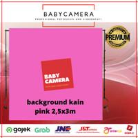 Background foto kain pink 2,5x3m