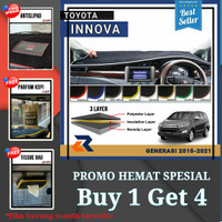Alas cover dashboard mobil Toyota New Innova 2015-2021/Cover dashboard - krem