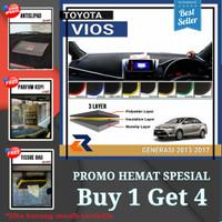 Alas cover dashboard mobil Toyota Vios 2013-2017/Cover dashboard mobil - krem