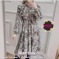 Baju Tunik Wanita Muslim Terbaru Rayon Busui All Size Lilian Tunik