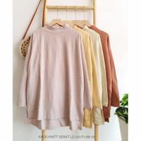 Baju Atasan Kaos Knit/Fashion Wanita Terbaru/Kaos Cewek JUMBO Casual