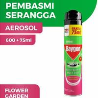 Baygon Aerosol Obat Anti Pembasmi Nyamuk Kecoa Semut 600+75ml Bukn Hit