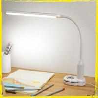 Lampu Meja Belajar Kerja LED Eye Protection Desk Lamp Clip 24 LED 5W