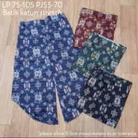 Celana batik 3/4 katun stretch bigsize