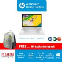 HP PAVILION AERO 13 (R5-5600U/2X8GB/512GB/13.3/BLK/WIN10+OH) - BE0000AU-Silver