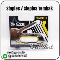 Staples - Steples Tembak - Steples Jok Kulit Gun - Bahan Besi