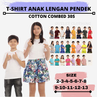 Baju Kaos Polos Anak Lengan Pendek Kaos Oblong Warna Putih