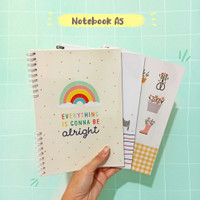 Notebook A5 - notebook aesthetic jurnal diary agenda planner bujo buku