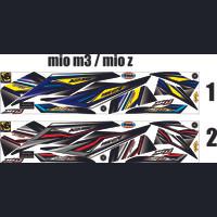 VARIASI STRIPING THAILOOK MOTOR MIO M3 / MIO Z STICKER LIS STRIPING AR