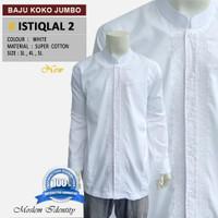 Baju Koko Putih , Baju Koko Bordir, Koko Lengan Panjang Jumbo Istiqlal