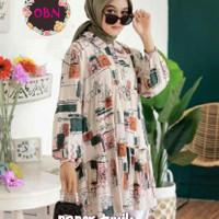 Baju Tunik Wanita Muslim Terbaru Rayon Busui All Size Paper Tunik