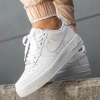 sepatu nike air force 1 full white premium Quality - 37