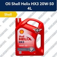 "OLI MESIN MOBIL SHELL HELIX HX3 20W-50 4L 4LITER API SL/CF"""