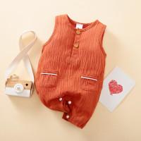 COZY jumper bayi 0-18 bln tanpa lengan / jumper kutung anak import - Hijau, 0-3 Bulan