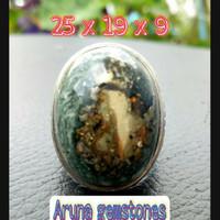 Batu akik badar emas natural stone