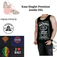 Kaos Singlet Bali Premium 3XL   Kualitas No 1   Tanktop Pria Jumbo