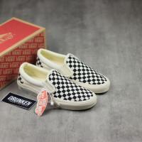 Sepatu Vans Slip On OG Ivory Checkerboard Catur Black White BNIB