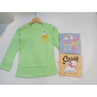 Kaos Remaja Perempuan Lengan Panjang T-shirt Cewek ABG - A