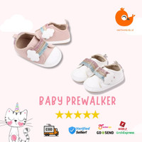 Sepatu Prewalker Bayi Perempuan Lucu Sol Karet Anti Slip