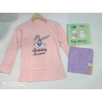 Kaos Remaja Perempuan T-shirt ABG Cewek lengan Panjang - A