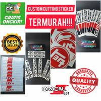 custom stiker sticker cutting