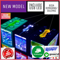 Aquarium Mini Lego Block with USB Light cocok untuk Ikan Cupang