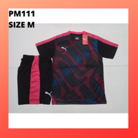 Baju Setelan jersey futsal anak kaos olahraga bola pria PM111 pink