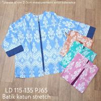 Atasan blus batik jumbo katun stretch blazer