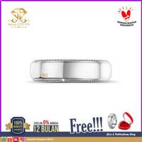 SBJ - cincin emas putih wanita perhiasan emas asli 750 CMP POLOS PRIA