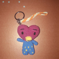 Gantungan kunci boneka amigurumi