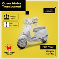 cover motor vespa sprint transparan waterproof berkualitas