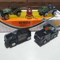 diecast set army series mainan mobil tentaran bahan metal