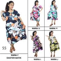 Daster Payung / Klok Batik - Motif Daun - Leher Kancing (DPT005-55)