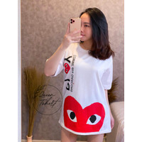 Kaos Wanita Lengan Pendek Jumbo CG / Baju Atasan Wanita Jumbo Size XXL - Putih