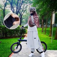 stelan olahraga wanita muslim terbaru sepeda gowes syar'i baju sepeda