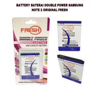 BATTERY BATERAI DOUBLE POWER SAMSUNG NOTE 2 ORIGINAL FRESH