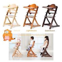 Yamatoya sukusuku plus table high chair natural kursi bayi babychair