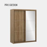 Pro Design Texas Lemari Pakaian Pintu Geser Kombinasi Pintu Biasa