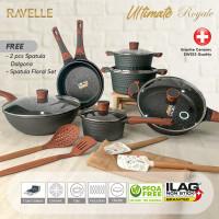 Panci Set RAVELLE ULTIMATE ROYALE - Cookware Set - ILAG GRANITEC SWISS